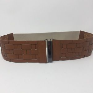 Brown Braided Stretchy Belt